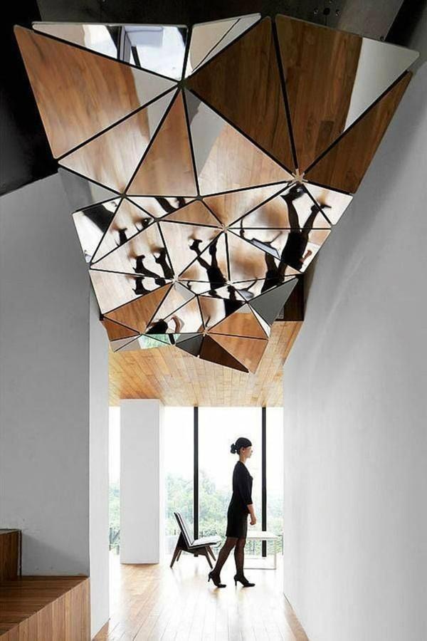 abstraktes design deckengestaltung