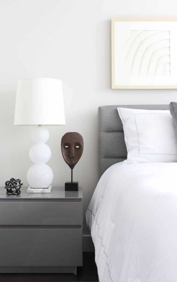 alles hell im Schlafzimmer - Nachtlampe