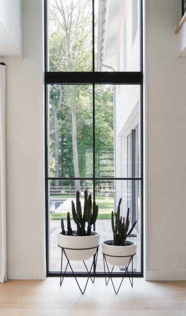 aluminiumfenster - dünne Metallrahmen