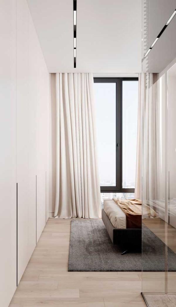 aluminiumfenster - schwarz weiße Inneneinrichtung