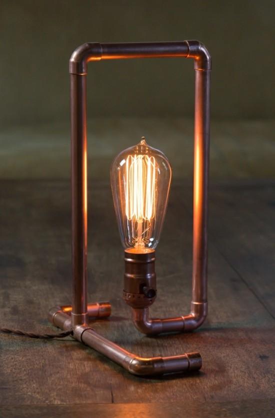 aus alt mach neu kupfer tischlampe aus alten rohren