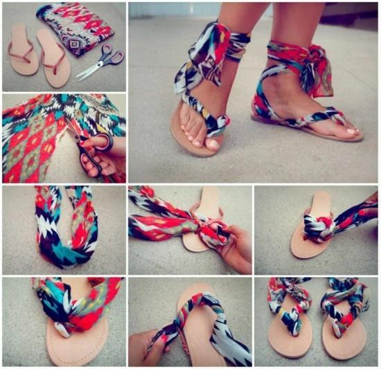aus alt mach neu sandalen basteln