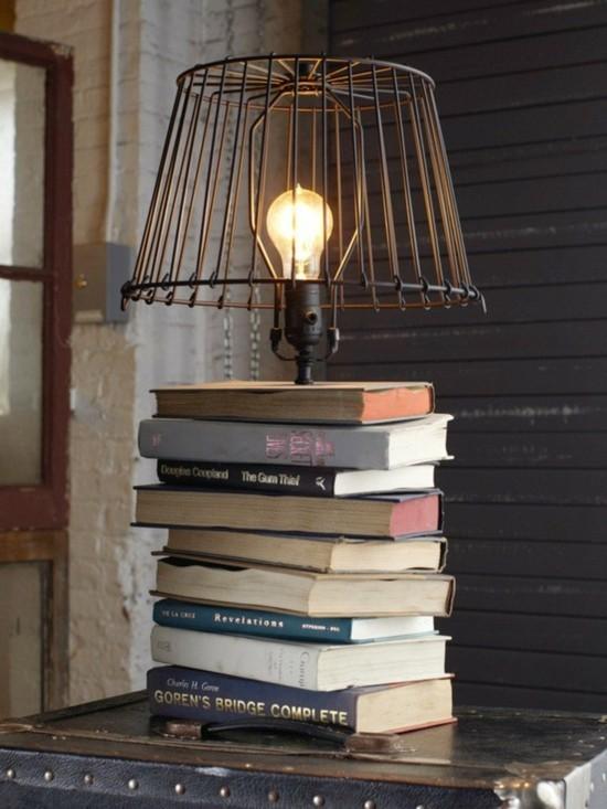 aus alt mach neu tischlampe aus alten büchern