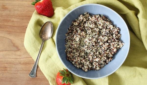 basisches frühstück mit quinoa