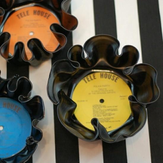 basteln mit schallplatten aus alt mach neu
