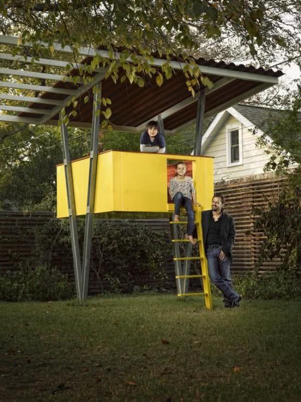 baumhaus - gelber quadrat - idee
