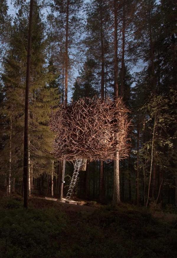 baumhaus - versteckt in der natur