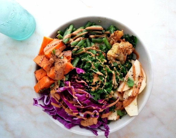 buddha bowl rezepte gemüse grüne bohnen blumenkohl mit tahini