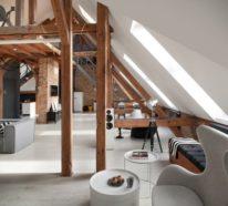 40 Ideen für Dachgeschoss-Einrichtung mit zeitgenössischem modernem Flair