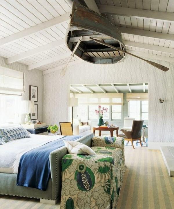 deckengestaltung ideen schlafzimmer mit boot