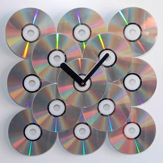 diy ideen mit alten cds wanduhr aus alt mach neu