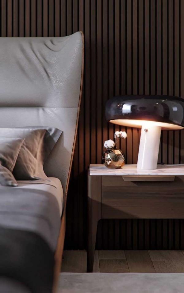 eine riesige Pilze - Nachtlampe