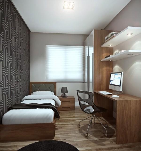 einzimmerwohnung schlafzimmer arbeitszimmer - einrichtung