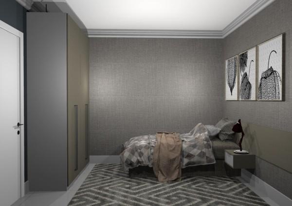 einzimmerwohnung - wunderbares zimmer in grauer farbe