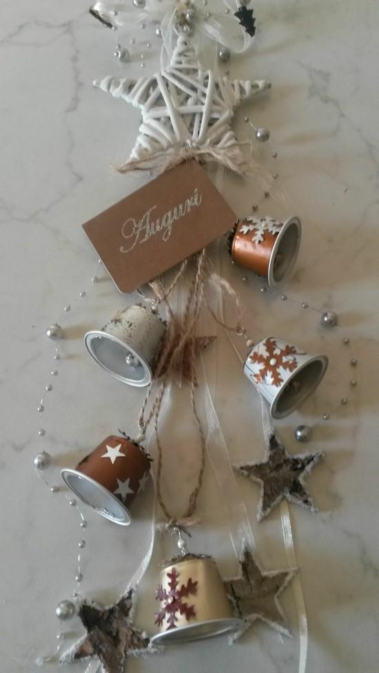 festliche weihnachtsdeko basteln mit kaffeekapseln