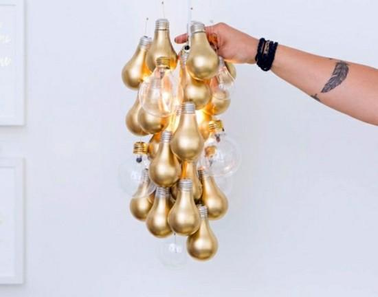goldene glühbirnen aus alt mach neu