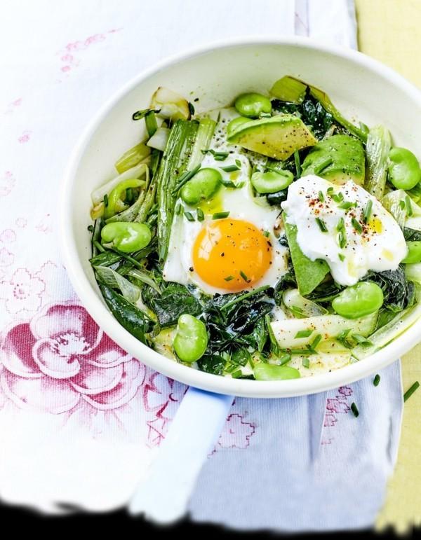 grüne buddha bowl rezepte mit bohnen spinat avocado und spiegelei