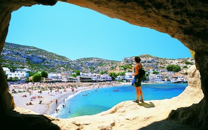 griechische Inseln Kreta Strand Wanderweg