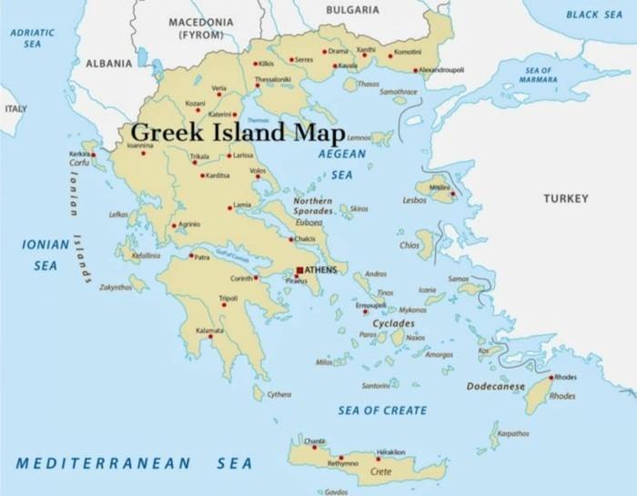 griechische Inseln Landkarte Urlaub planen
