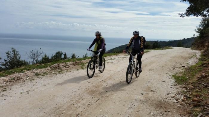 griechische Inseln Thassos Fahrrad fahren Sommerurlaub