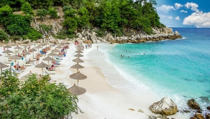 griechische Inseln Thassos Sandstrand Sommerurlaub