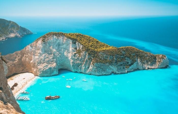 griechische Inseln Zakynthos Navagio Beach Sommerurlaub Schiffwracks