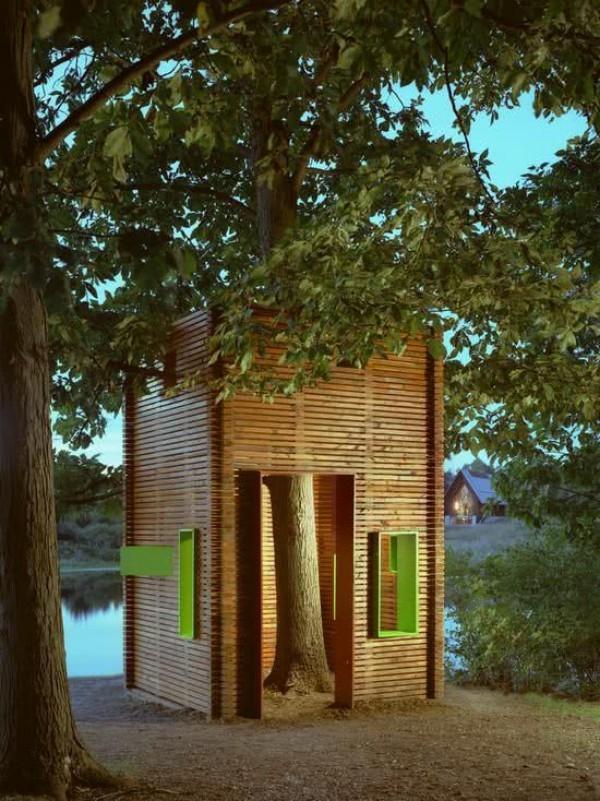 hochrechteckoge konstruktion - tolles baumhaus