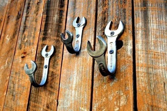 kleiderhaken aus schraubenschlüssel selber machen