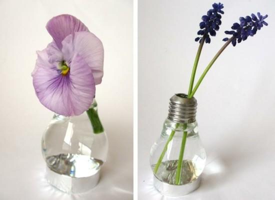 kleine glühbirnen vasen aus alt mach neu