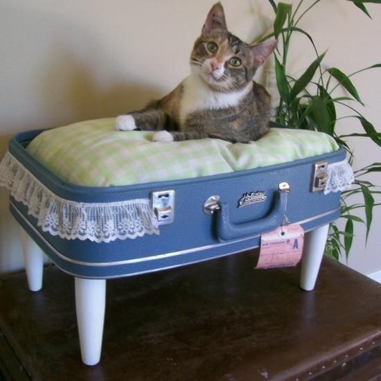 koffer katzenbett aus alt mach neu