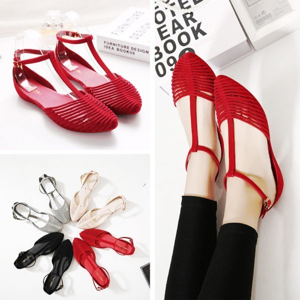 kusntstoff sandalen - wunderbare idee