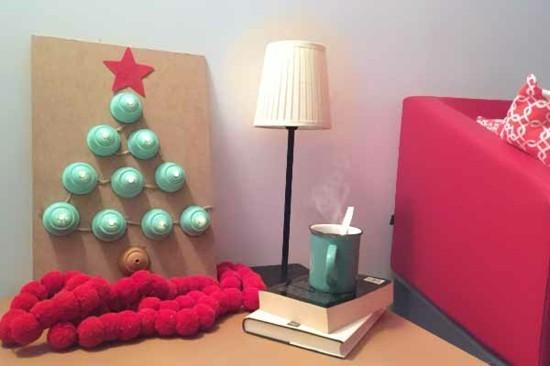 led weihnachtsbaum basteln mit kaffeekapseln