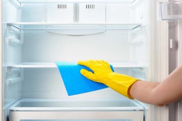 leere regale - geruch im kühlschrank