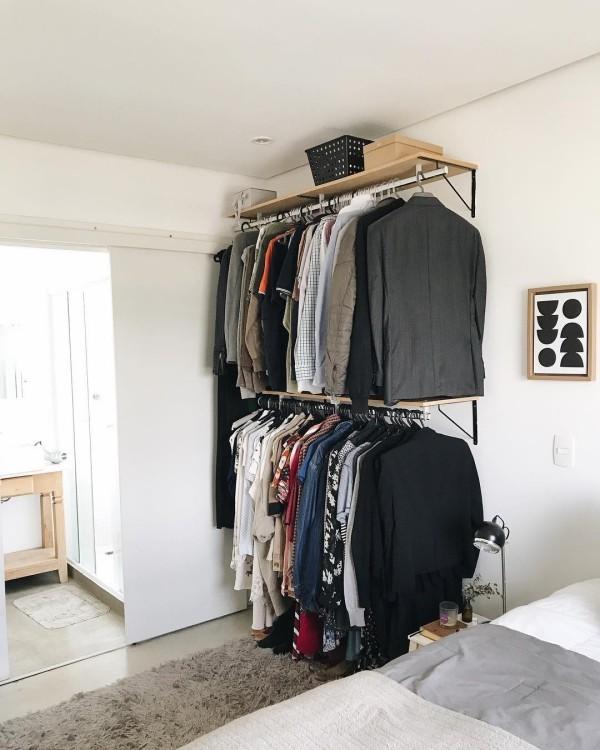 offener kleiderschrank - einfache idee