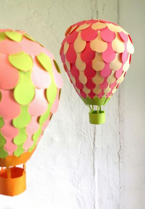 Heissluftballon Aus Papier Herstellen Youtube 1