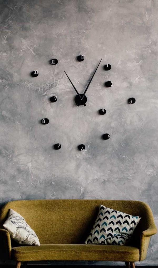 schwarze punkte - wanduhr