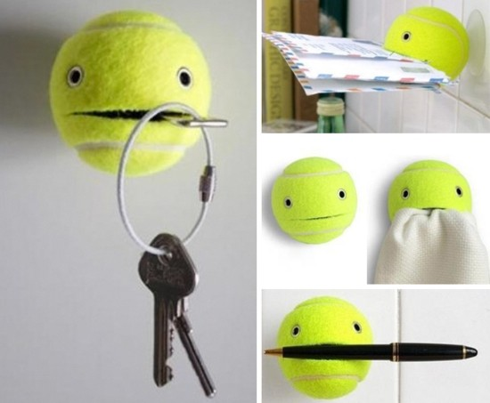 tennis ball upcycling ideen aus alt mach neu