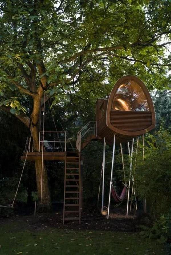 treppen ideen - baumhaus