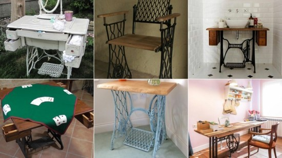 upcycling möbel mit alter nähmaschine aus alt mach neu
