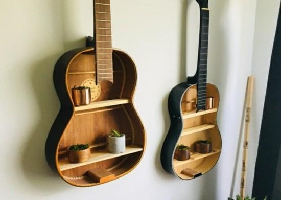 wandregal aus alten gitarren basteln