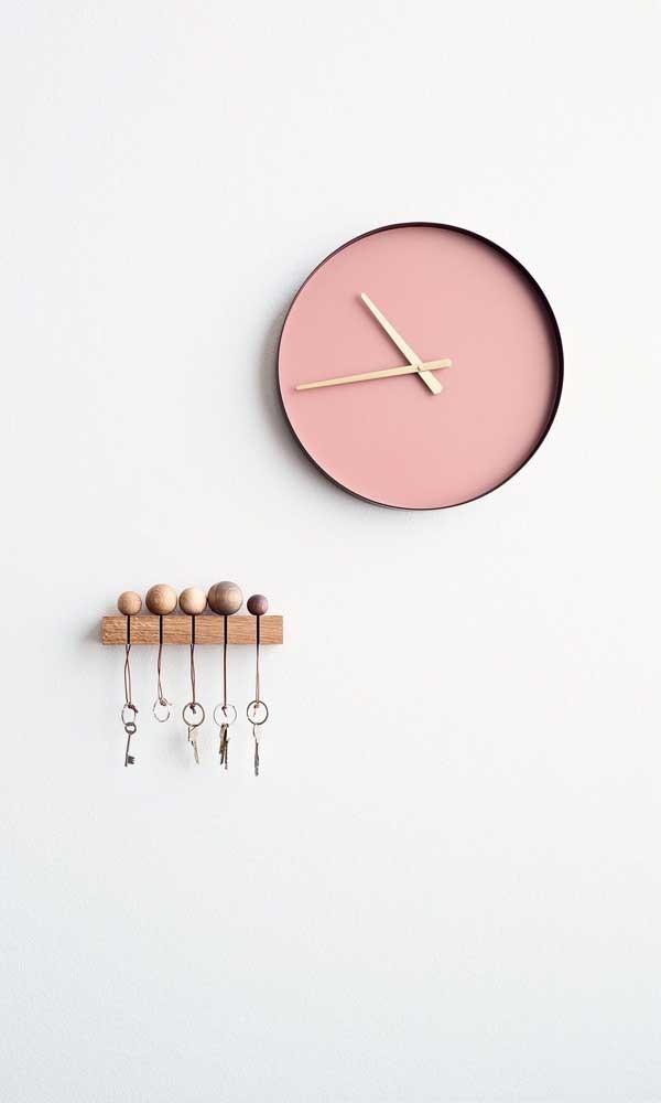 wanduhr - rosa idee für eine schöne uhr