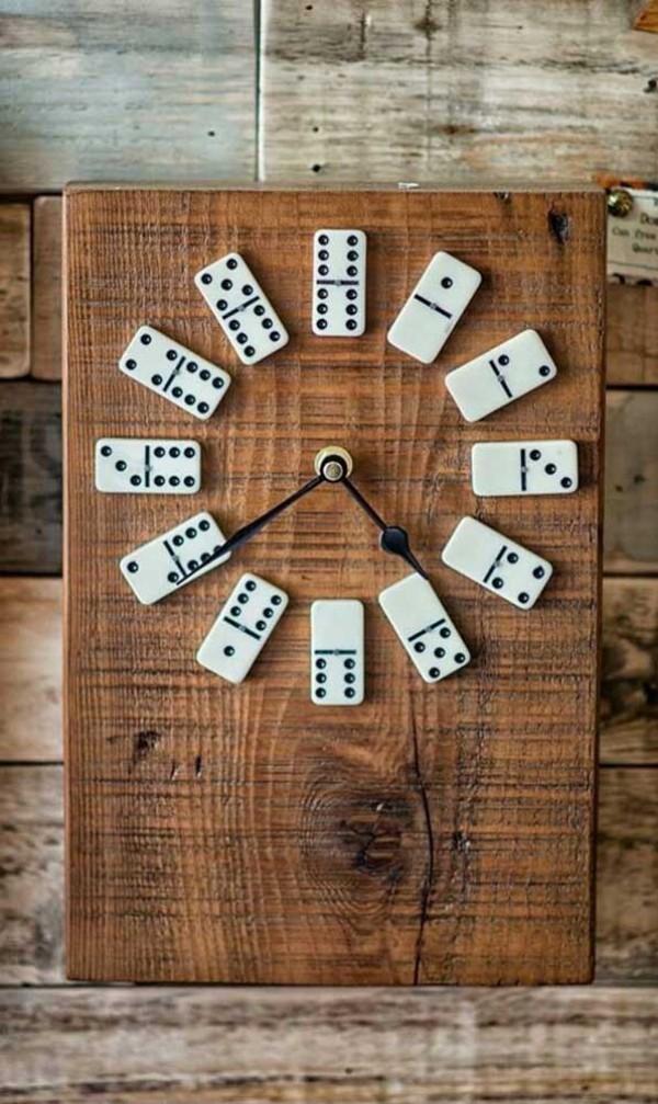 wanduhr - tolles Domino