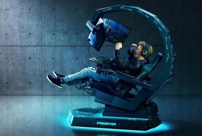 Acer enthüllt neuer Gaming Thron auf der IFA 2019 Acer Predator Thronos Air die gesamte konstruktion kippen