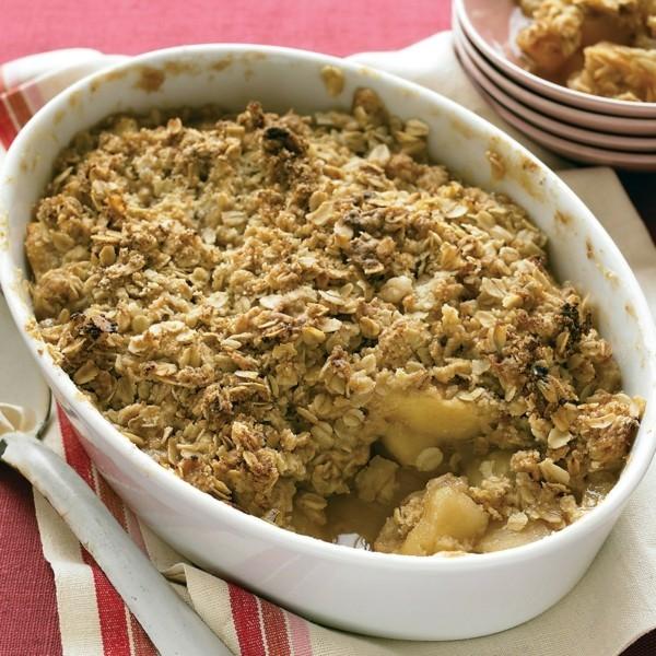 Apfel Crumble Haferflocken Rezept Apfelstreusel zubereiten