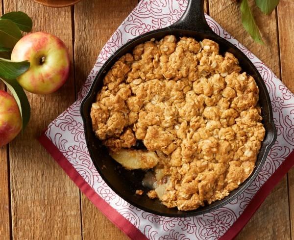 Apfel Crumble Rezept Apfelstreusel zubereiten