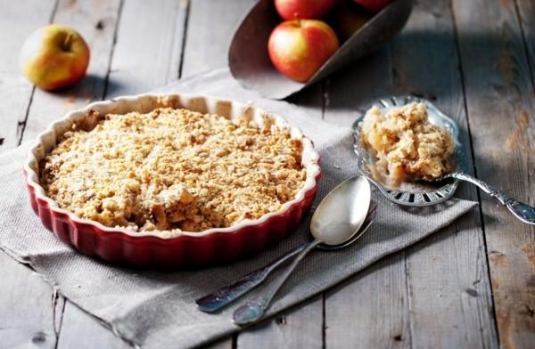 Apfel Crumble einfach Rezept Apfelstreusel zubereiten