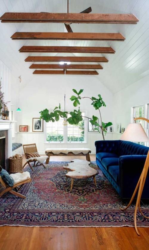 Blaues Sofa Retro - Inneneinrichtung