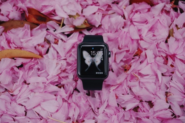 Gründe, warum jeder eine Smartwatch haben sollte moderne smartwatch auf bett aus rosen