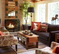Herbstdeko im Wohnzimmer – jetzt wird's gemütlich!