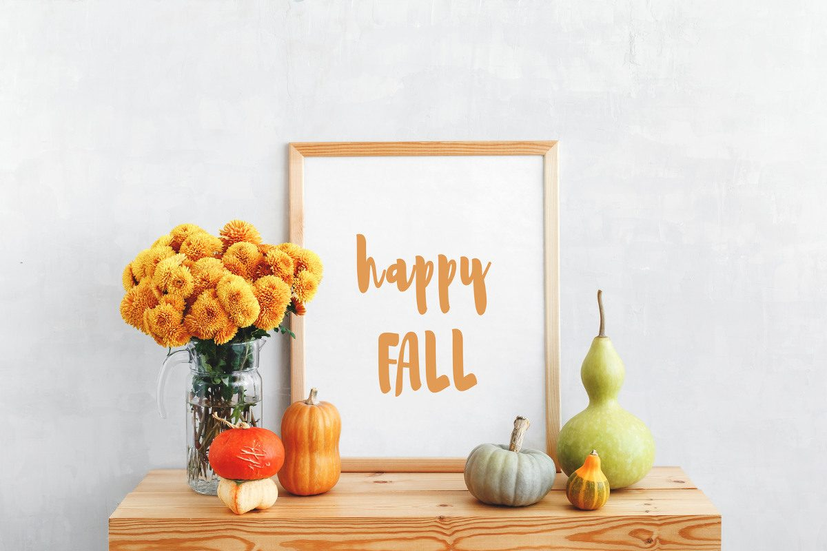 Hinreißende Herbstdeko Ideen mit bunten Blättern, Zweigen und ...